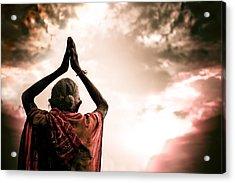Faith And Prayers For Peace Acrylic Print by Nila Newsom