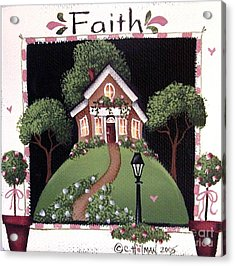 Faith Acrylic Print by Catherine Holman