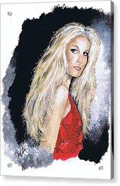 Faith Hill Acrylic Print