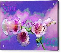 Faith-hope-love Acrylic Print