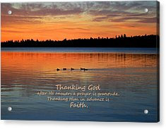 Faith In God Acrylic Print