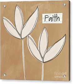 Faith Acrylic Print by Linda Woods