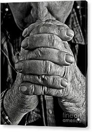 Faithful Hands Acrylic Print