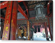 Faithfull In Temple Of Literature Acrylic Print by Sami Sarkis