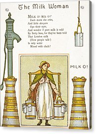 Fake Milk, 1880s Poem Acrylic Print by British Library