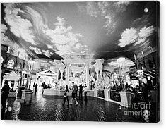 fake sky at the forum shops caesars palace luxury hotel and casino Las Vegas Nevada USA Acrylic Print