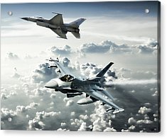 Falcon Element Acrylic Print by Peter Chilelli