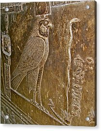 Falcon Symbol For Horus In A Crypt In Temple Of Hathor In Dendera-egypt Acrylic Print