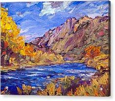 Fall Along The Rio Grande Acrylic Print by Steven Boone