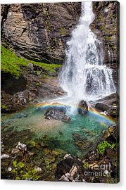Fall And Rainbow Acrylic Print by Silvia Ganora