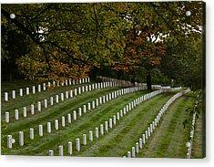 Fall At Arlington Cemetery Acrylic Print by DustyFootPhotography