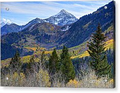 Fall At Cascade Peak And Sundance From Alpine Loop  Acrylic Print