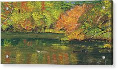 Fall At Dorrs Pond Acrylic Print