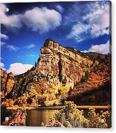 Fall At Hanging Lake Colorado Acrylic Print by Tory Stoffregen