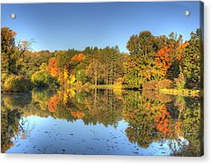 Acrylic Print featuring the photograph Fall At Lake Marmo by Ed Cilley