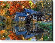 Fall At Mabry Mill Acrylic Print by David Cote