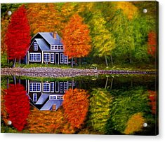Fall At The Cabin Acrylic Print