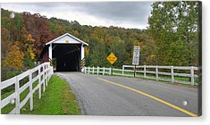 Fall At The Jacksons Mill Covered Bridge Acrylic Print by Dan Myers