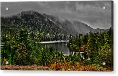 Acrylic Print featuring the photograph Fall At The Lake. by Timothy Latta