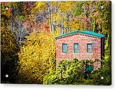 Fall At The Old Mill In Roswell Acrylic Print