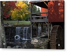 Fall At The Weston Mill Acrylic Print