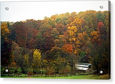 Fall At Valley Forge Acrylic Print by Skip Willits