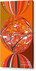Fall Ball - Autumn Leaves And Color Acrylic Print by Scott Cameron