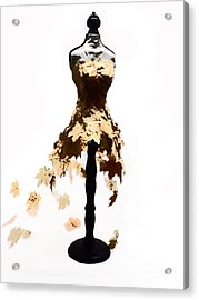 Fall Ball Gown Acrylic Print by Christina Perry