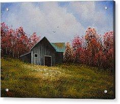 Fall Begins Acrylic Print by C Steele
