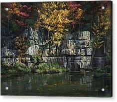 Fall Bluffs - Ozark Nat'l Scenic Rivers Acrylic Print by Don  Langeneckert