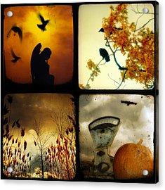 Fall Blush Collage Acrylic Print