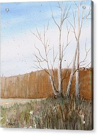 Acrylic Print featuring the painting Fall Clearing by Rebecca Davis