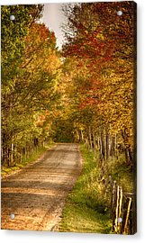 Acrylic Print featuring the photograph Fall Color Along A Peacham Vermont Backroad by Jeff Folger