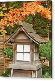 Fall Color At The Portland Japanese Acrylic Print