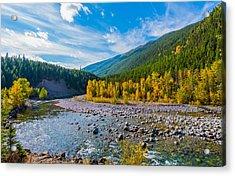 Fall Colors At Glacier National Park Acrylic Print by Rohit Nair