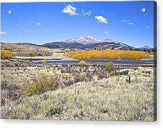 Fall Colors Fairplay Colorado Acrylic Print by James Steele