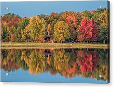 Fall Colors In Cabin Country Acrylic Print