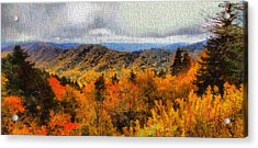 Fall Colors In The Smoky Mountains Acrylic Print by Dan Sproul