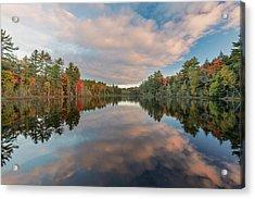 Fall Colors On Shoreline Of Irwin Lake Acrylic Print