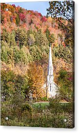 Fall Colors Over Vermont Church Acrylic Print
