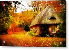 Acrylic Print featuring the painting Fall Colors by Wayne Pascall
