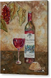Fall Creek Vineyards Acrylic Print by Tamyra Crossley