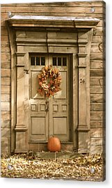 Traditional Fall Decor In New England Acrylic Print