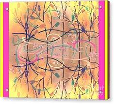 Fall Designs Acrylic Print by Susan Townsend