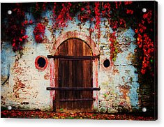 Fall Door Acrylic Print by Ryan Wyckoff