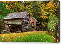 Fall Down On The Farm Acrylic Print by William Jobes