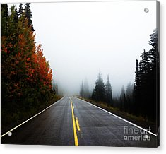 Acrylic Print featuring the photograph Fall Drive 8x10 Crop by Kate Avery