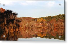 Fall Farm Landscape Acrylic Print by Mike Breau