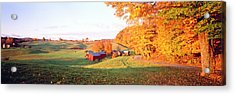 Fall Farm Vt Usa Acrylic Print by Panoramic Images