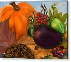 Fall Festival Acrylic Print by Christine Fournier